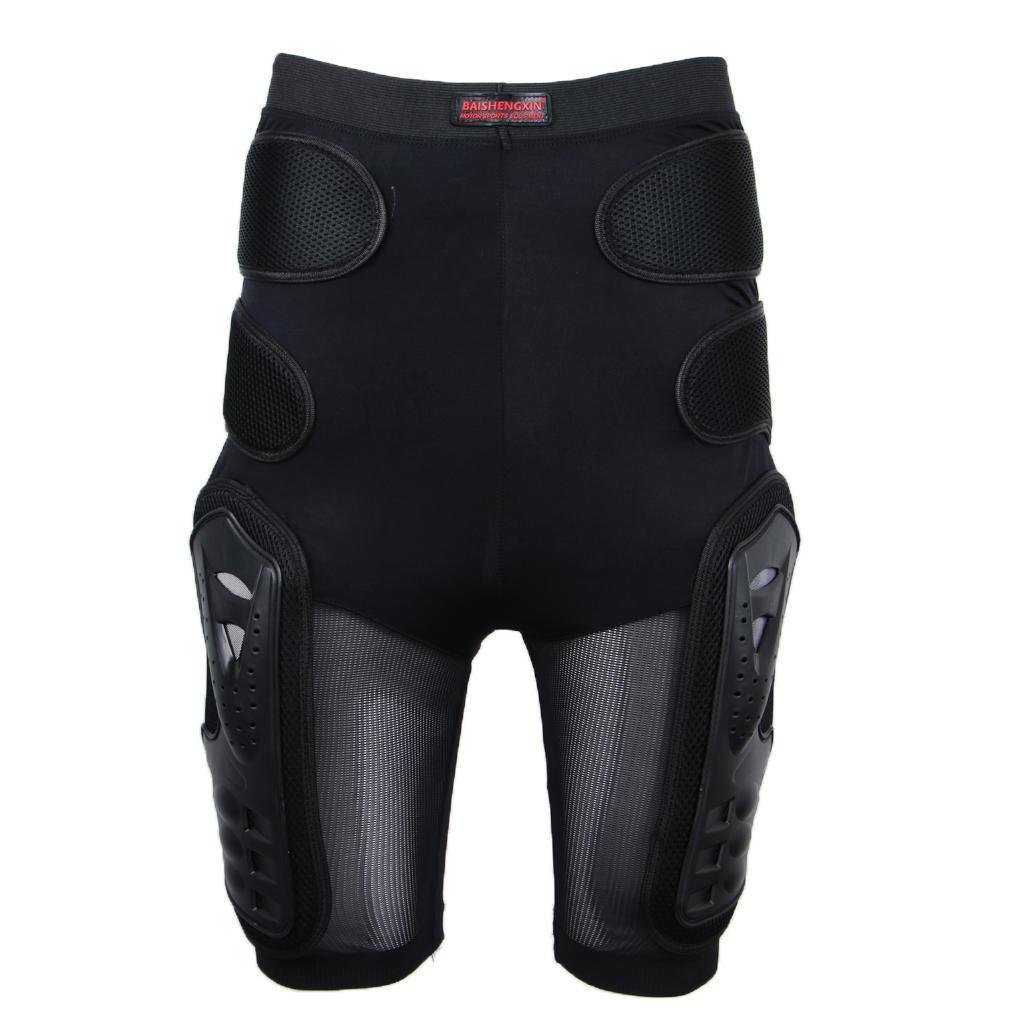 Moto-Racing-Ski-Armour-Tampons-Hanches-Jambes-Protecteur-Shorts-Pantalons miniature 9