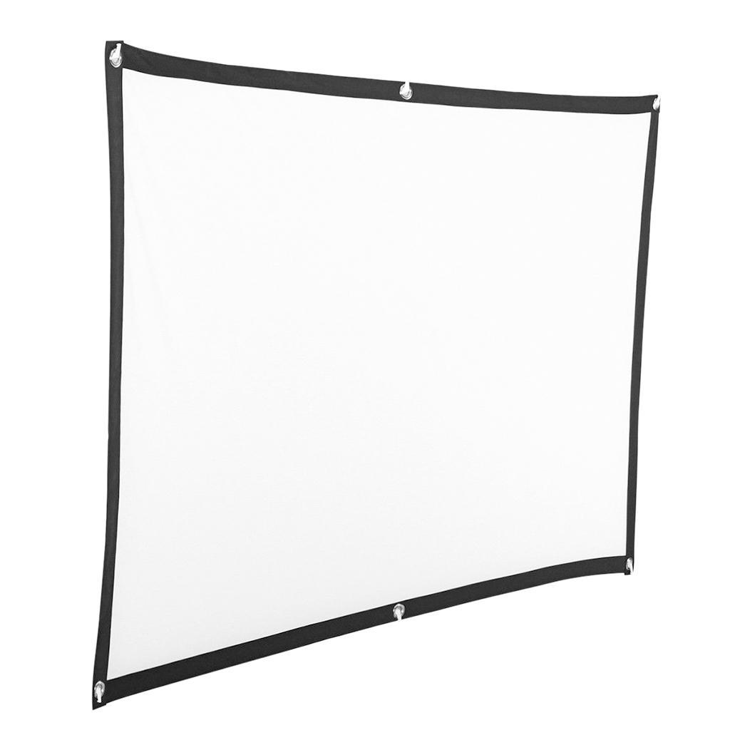 Durable-Outdoor-Portable-Projector-Screen-Soft-Home-Movie-Screen-White thumbnail 4
