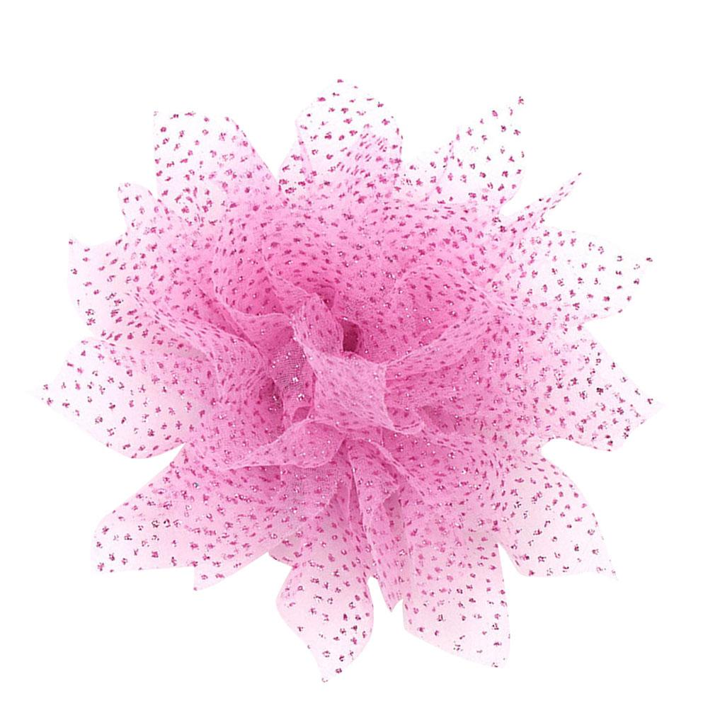 10pcs Adorable Flower Hair Clips For Party Favor Hair Decoration Accessories -Pink