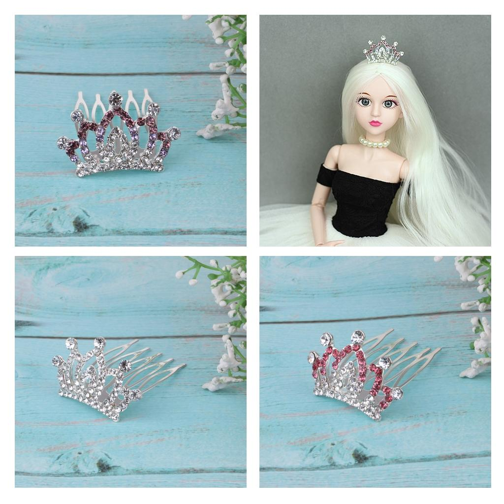 Mini Metal Princess Queen Crown Jewelly Toy for 1//3 1//4 BJD Dolls Outfit