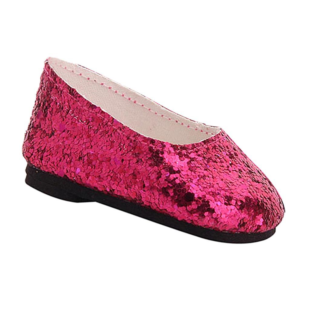 MagiDeal-Lovely-Sequin-Shoes-for-AG-American-Doll-18inch-Dolls-Clothes-Accs miniature 8