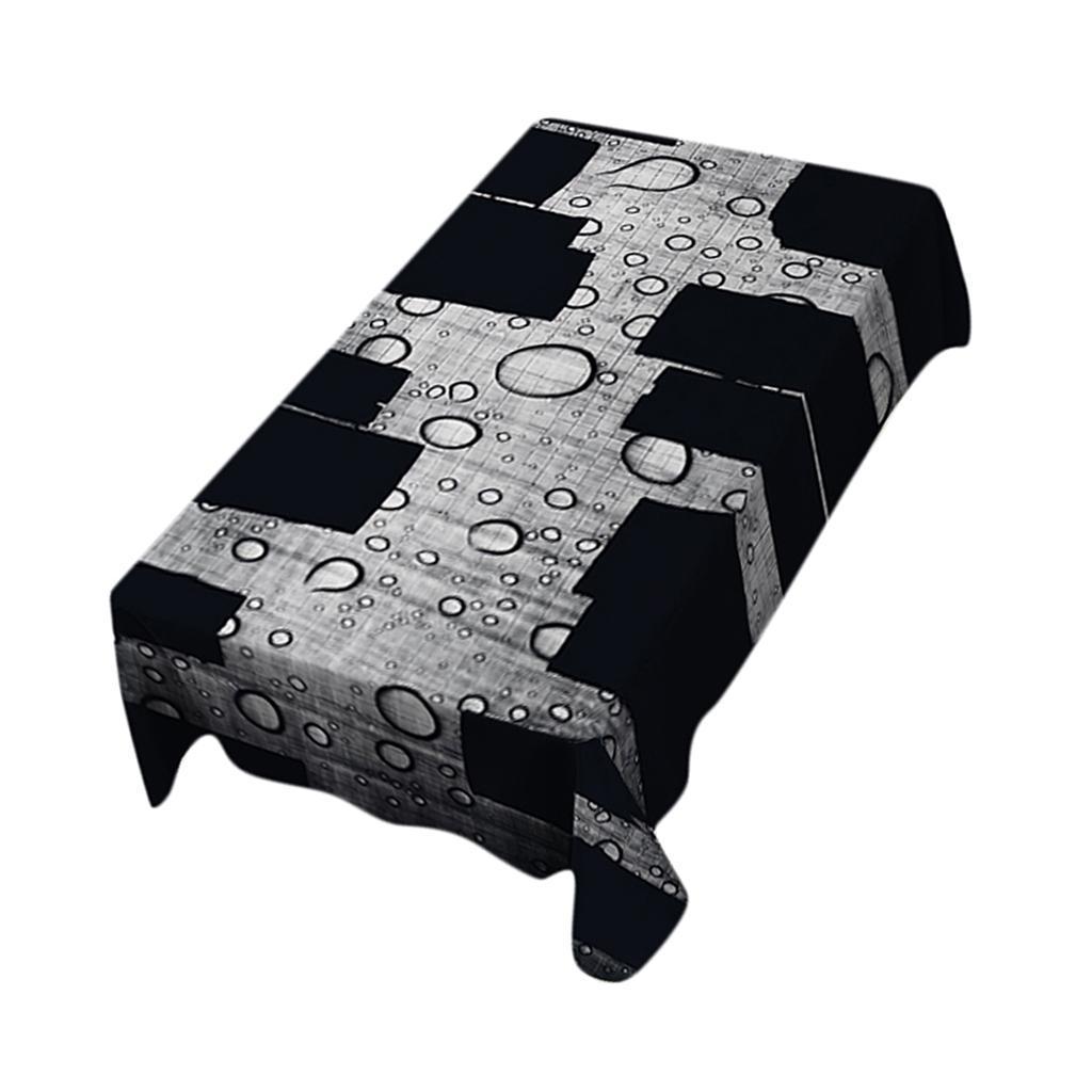 Rectangulaire-Nappe-de-Table-Couverture-Impermeable-Embellissement-de-Table miniature 5
