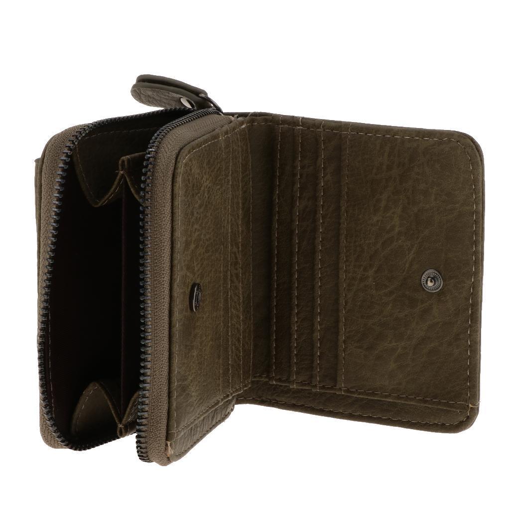 Portafoglio-da-donna-in-pelle-con-fermasoldi-Porta-carte-di-credito-da-donna miniatura 5
