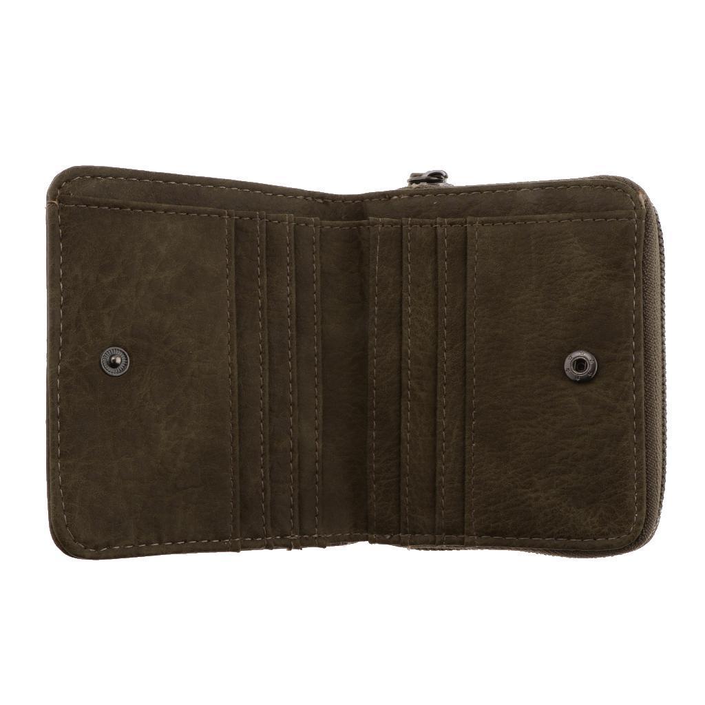 Portafoglio-da-donna-in-pelle-con-fermasoldi-Porta-carte-di-credito-da-donna miniatura 6