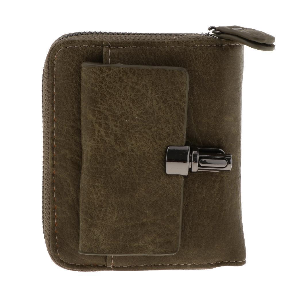 Portafoglio-da-donna-in-pelle-con-fermasoldi-Porta-carte-di-credito-da-donna miniatura 3