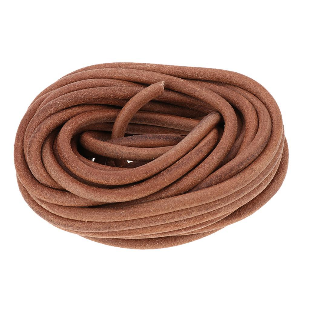 10-Meters-Round-Leather-Cord-Cowhide-Leather-Cord-5mm-6mm-8mm-Diameter miniature 7
