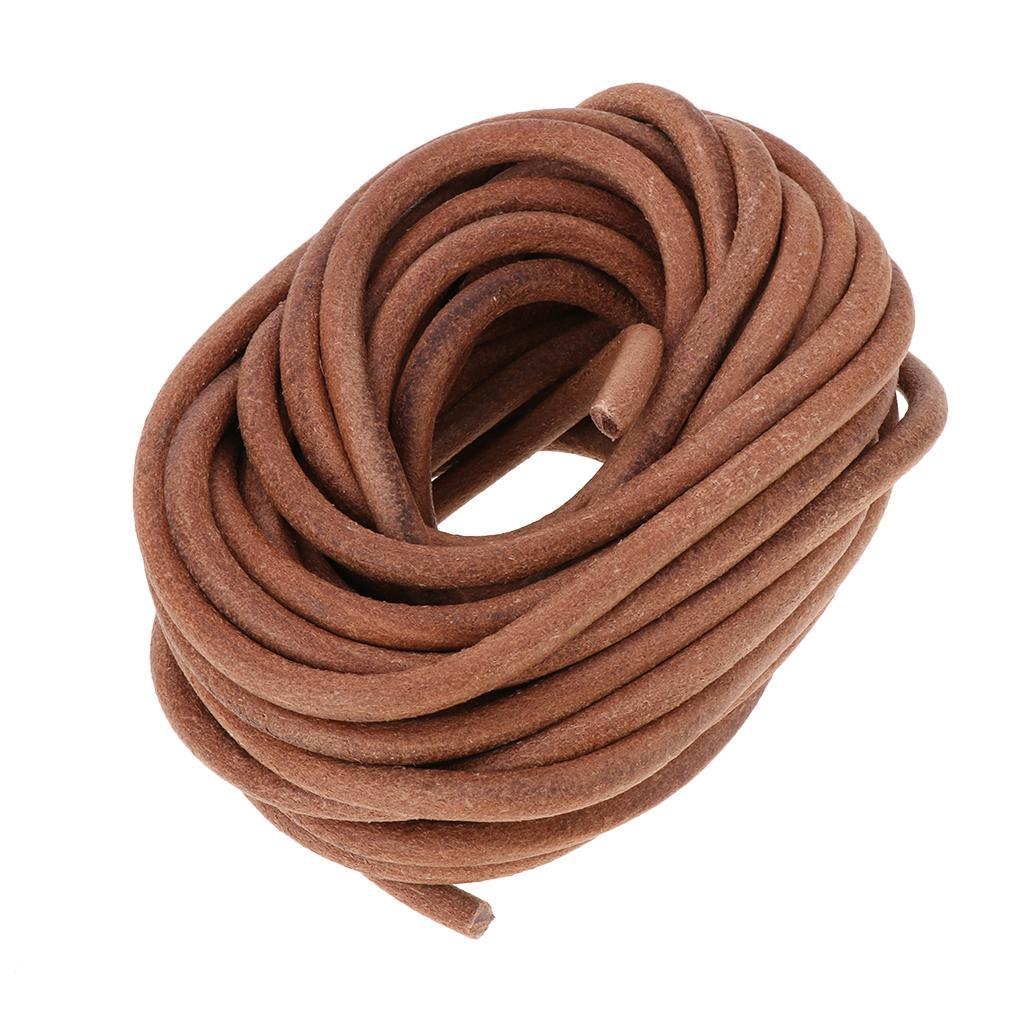 10-Meters-Round-Leather-Cord-Cowhide-Leather-Cord-5mm-6mm-8mm-Diameter miniature 8