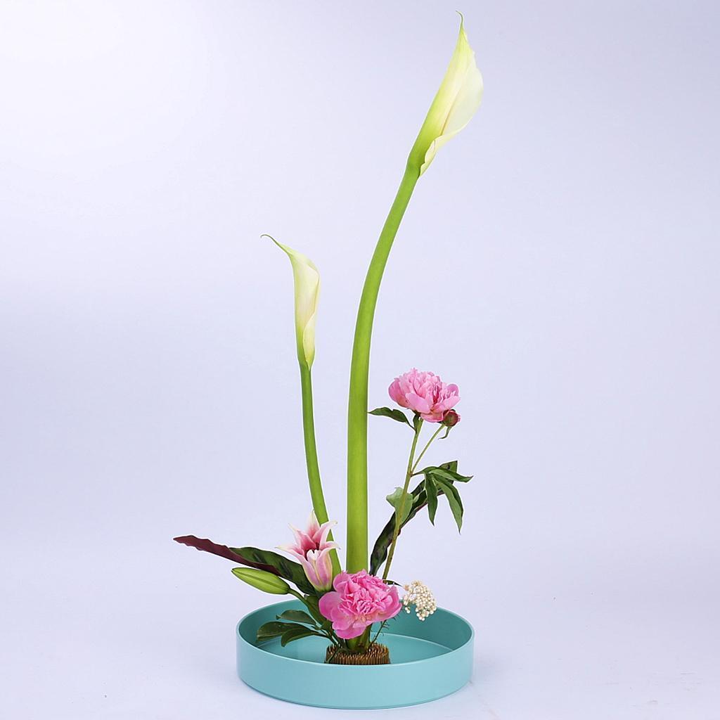 Blesiya-Round-Suiban-Vase-Pot-Tray-Container-for-Ikebana-Flower-Arrangements thumbnail 23