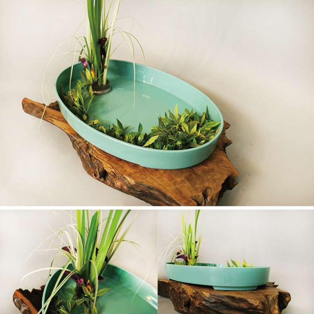 Ikebana-Suiban-Display-Vase-Pot-Tray-Container-for-Flower-Arrangement thumbnail 19