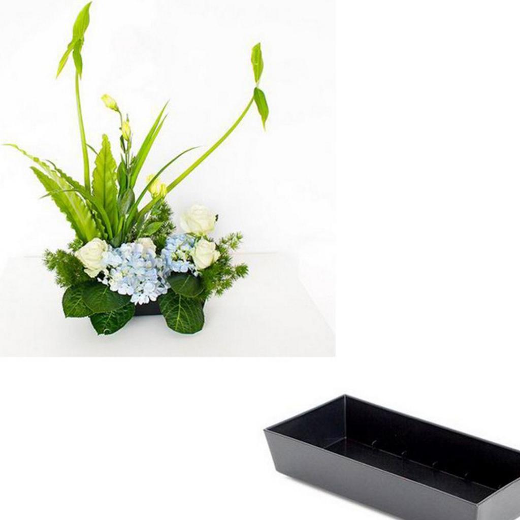 Plastic-Ikebana-Suiban-Vase-Pot-Flower-Arranging-Base-Holder-Various-Shape thumbnail 17