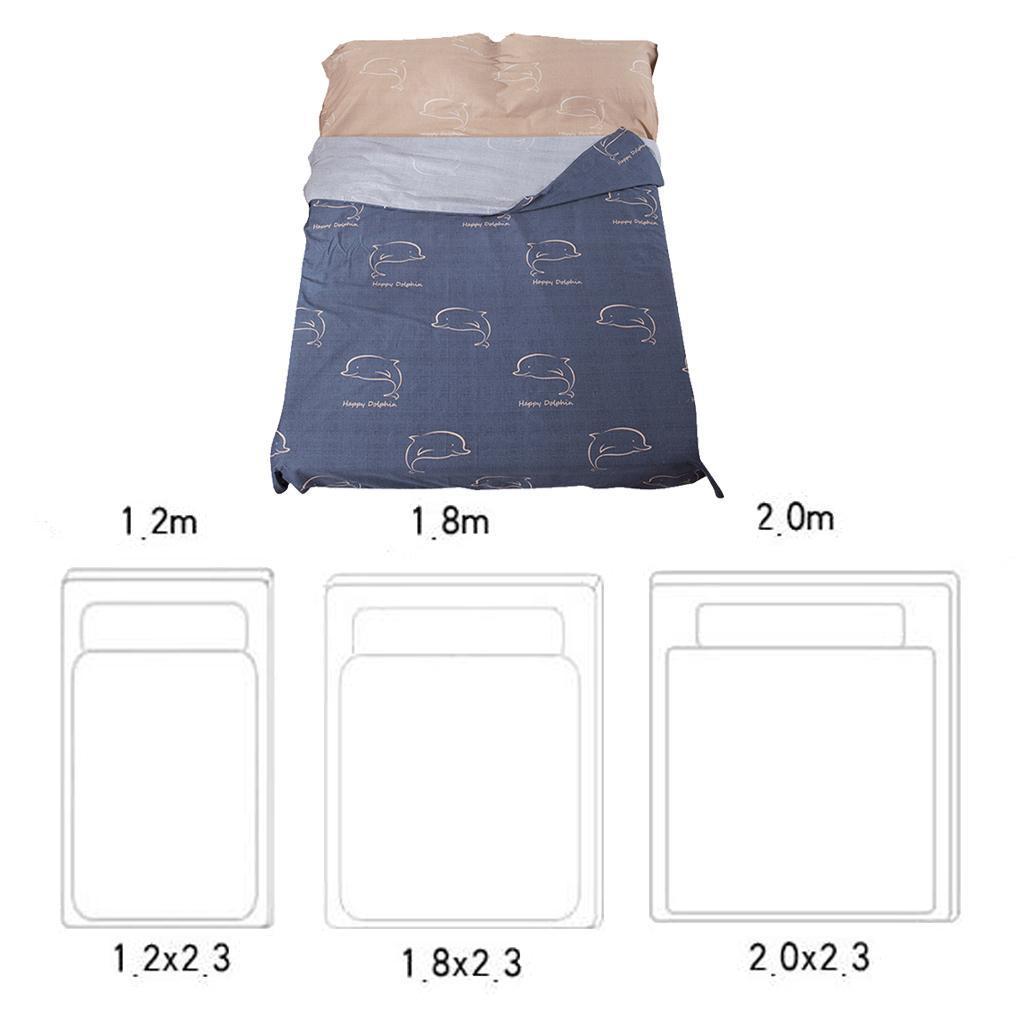 1x-Lenzuolo-con-sacco-a-pelo-Lenzuolo-portatile-per-letto-da-viaggio miniatura 10