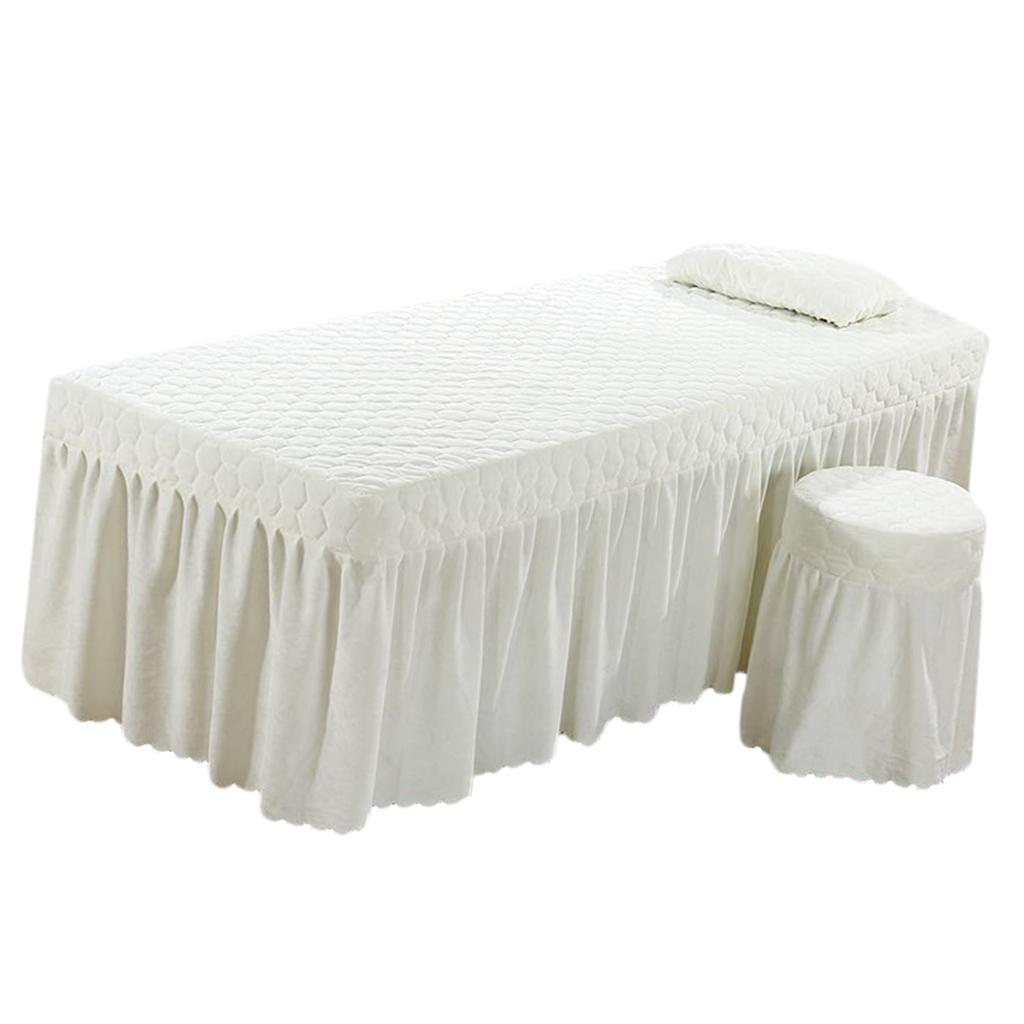 SPA-Massage-Bed-Bedding-Linen-Set-Table-Skirts-Pillow-Case-Stool-Cover thumbnail 18