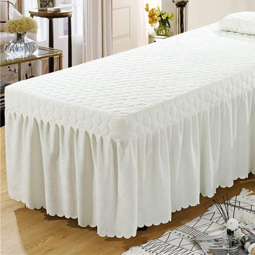 SPA-Massage-Bed-Bedding-Linen-Set-Table-Skirts-Pillow-Case-Stool-Cover thumbnail 19