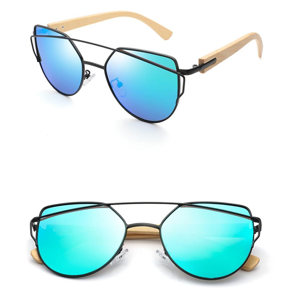 uomo-donna-moda-in-legno-uv-400-lenti-piatte-occhiali-da-sole-con-gambe-di miniatura 19
