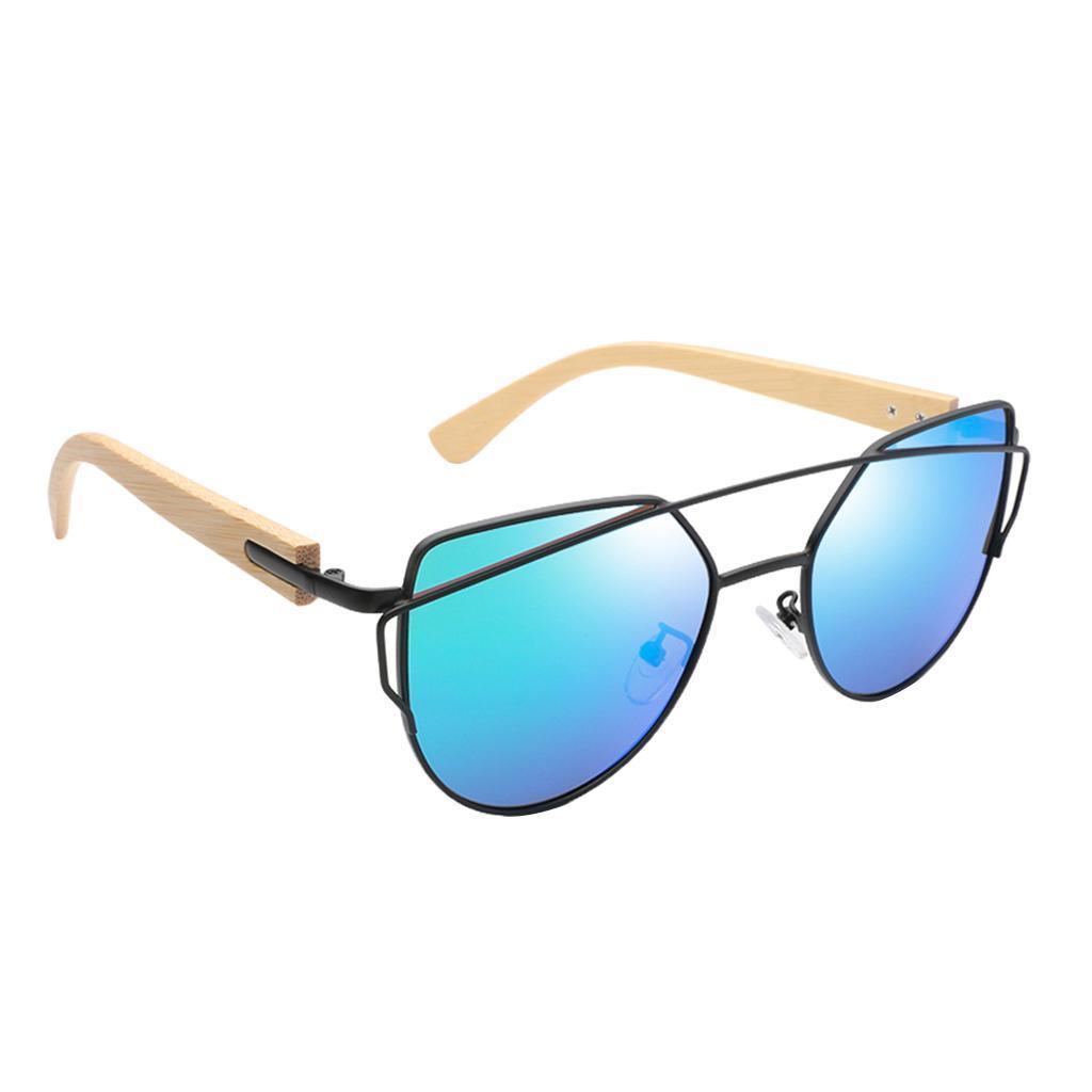 uomo-donna-moda-in-legno-uv-400-lenti-piatte-occhiali-da-sole-con-gambe-di miniatura 21