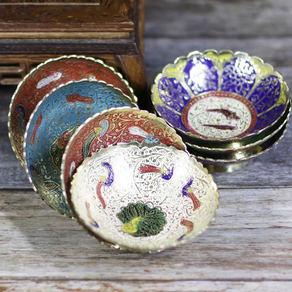 Piatta-Cibo-Casa-Servire-Tavola-Frutta-Buddismo-Decorazione-Collezioni miniatura 22