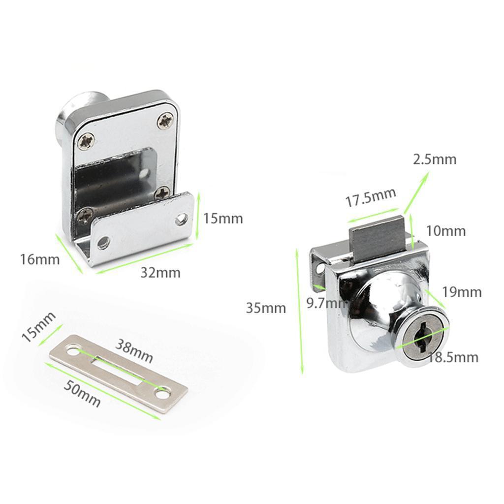 Arcade Machine Cabinet Cupboard Mailbox Safety Keyed 10mm Tubular Cam Lock