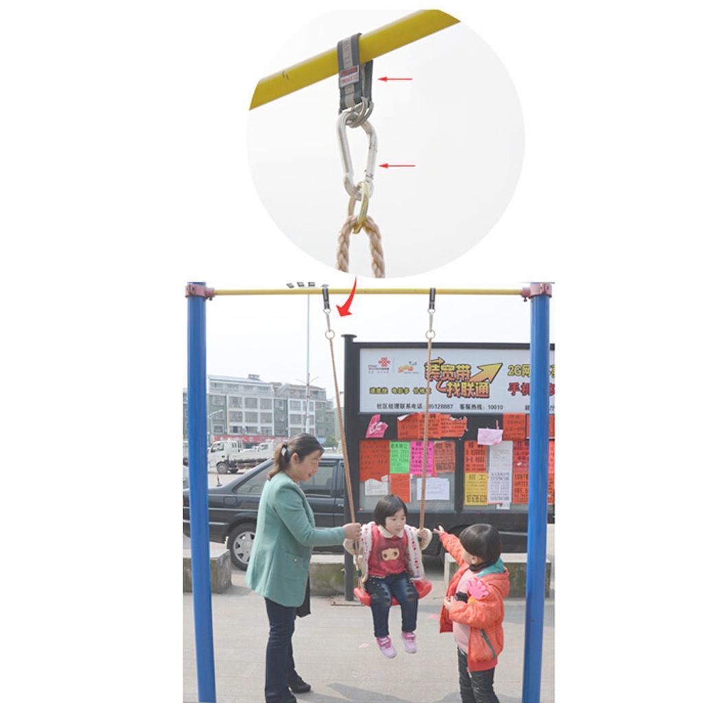 Garden-Swing-Set-Seat-Rope-Hanging-Strap-Connector-Metal-Chain-Kid-Adult-Outdoor miniatuur 39