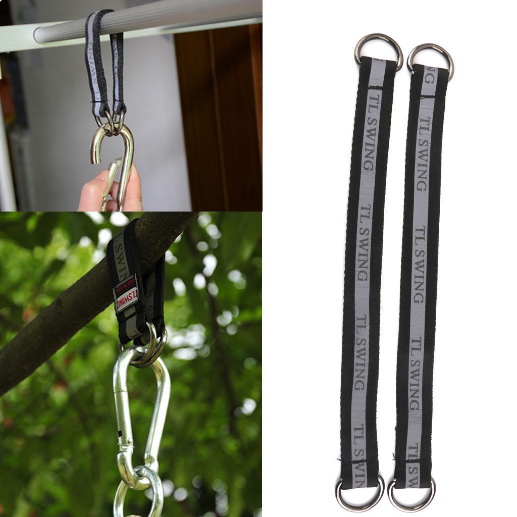 Garden-Swing-Set-Seat-Rope-Hanging-Strap-Connector-Metal-Chain-Kid-Adult-Outdoor miniatuur 37