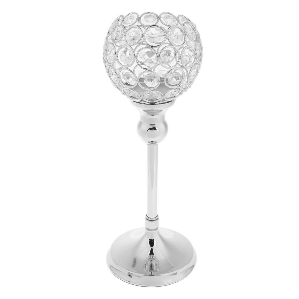 Crystal-Candle-Holder-Wedding-Banquet-Candlestick-Table-Romantic-Centerpiece thumbnail 11