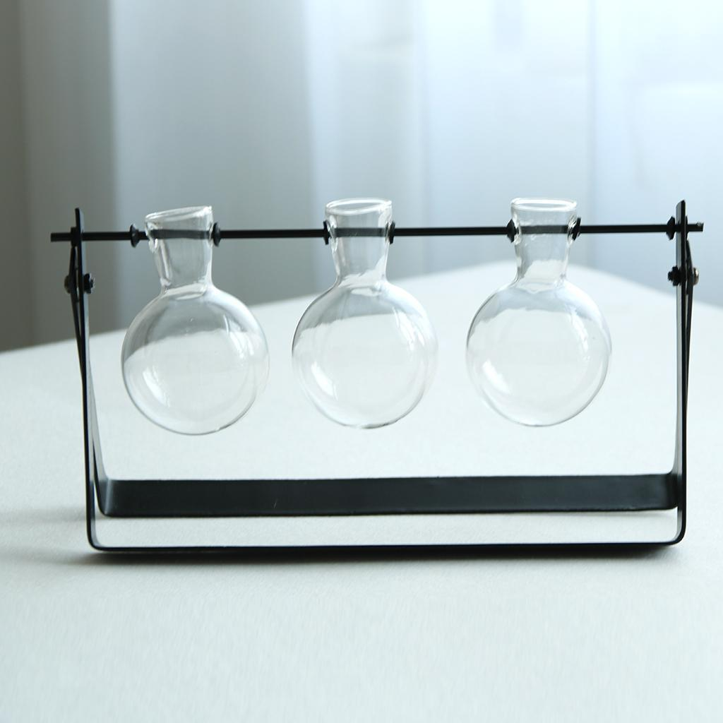 Vase-Boule-Suspension-de-plantes-en-verre-Container-a-Fleurs-Maison-Jardin-Decor miniature 7