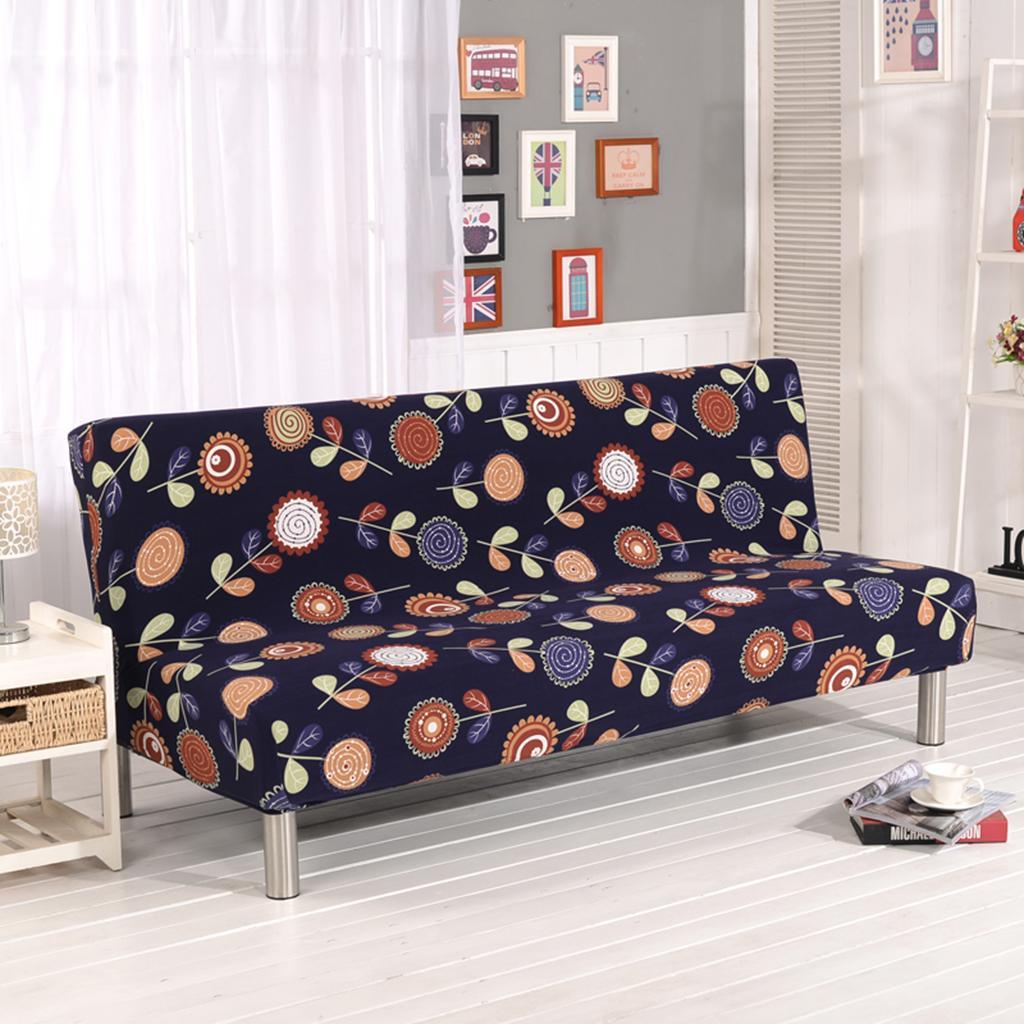 New Slipcover Stretch Sofa Cover Sofa With Loveseat Chair: Printed Stretch Couch Sofa Cover No Armrest Sofa