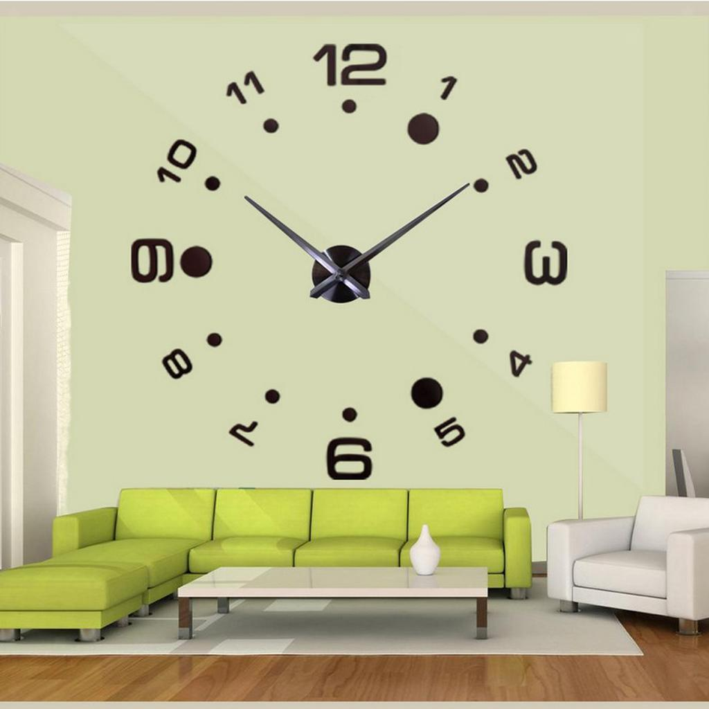Lettere Da Appendere Al Muro dettagli su moderno grande orologio da parete 3d numeri lettere fai da te  adesivi