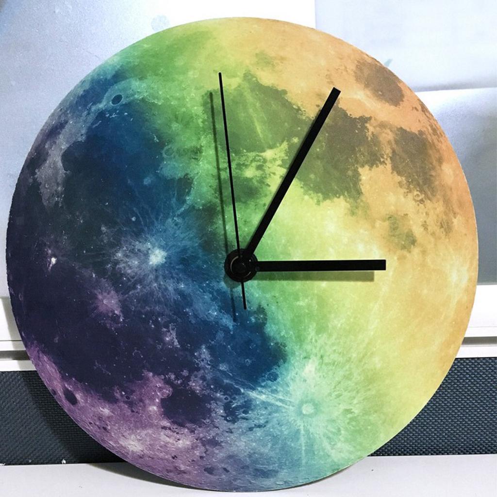 Indoor-Decorative-Wall-Clock-12inch-Luminous-Moon-Battery-Operated-Silent thumbnail 29