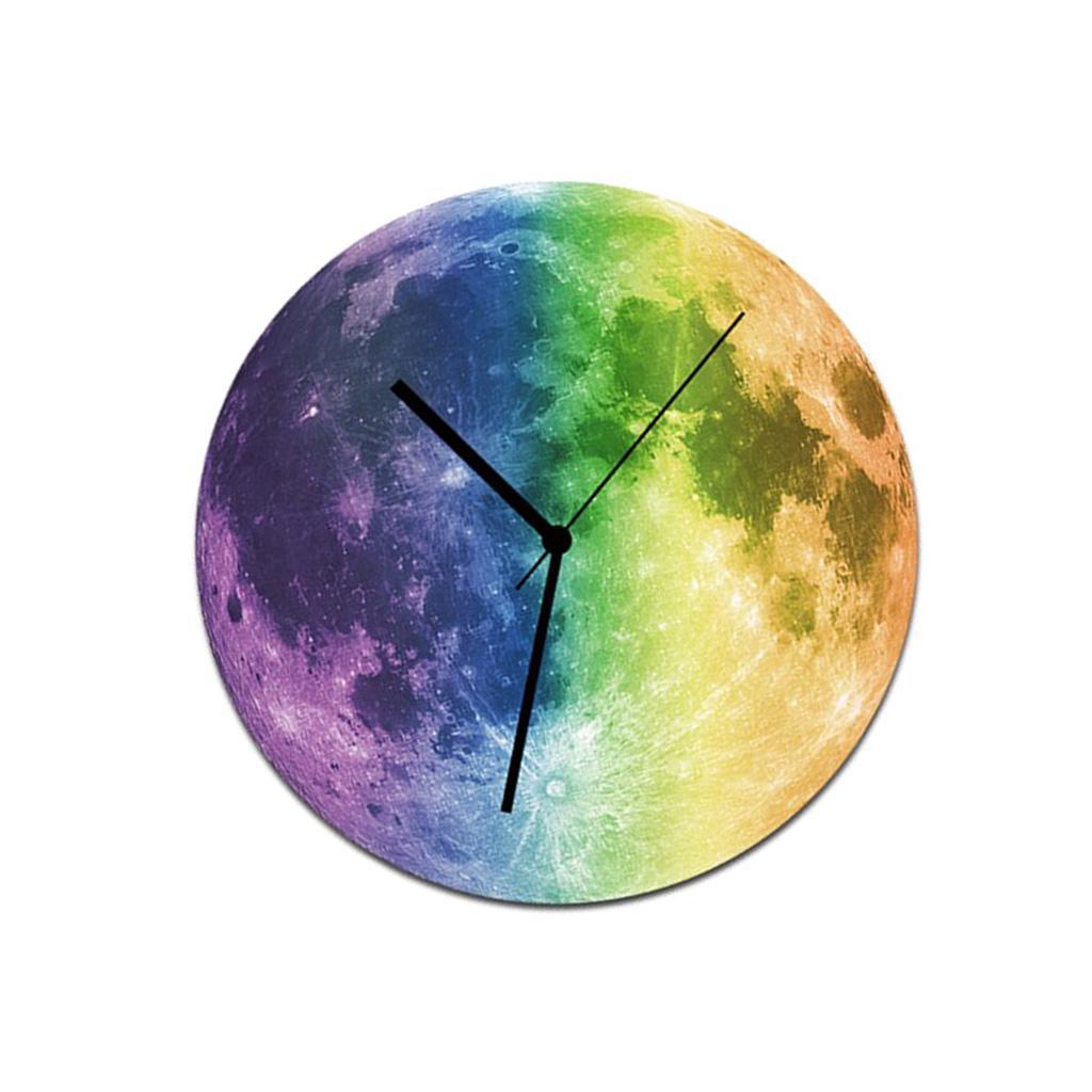 Indoor-Decorative-Wall-Clock-12inch-Luminous-Moon-Battery-Operated-Silent thumbnail 28
