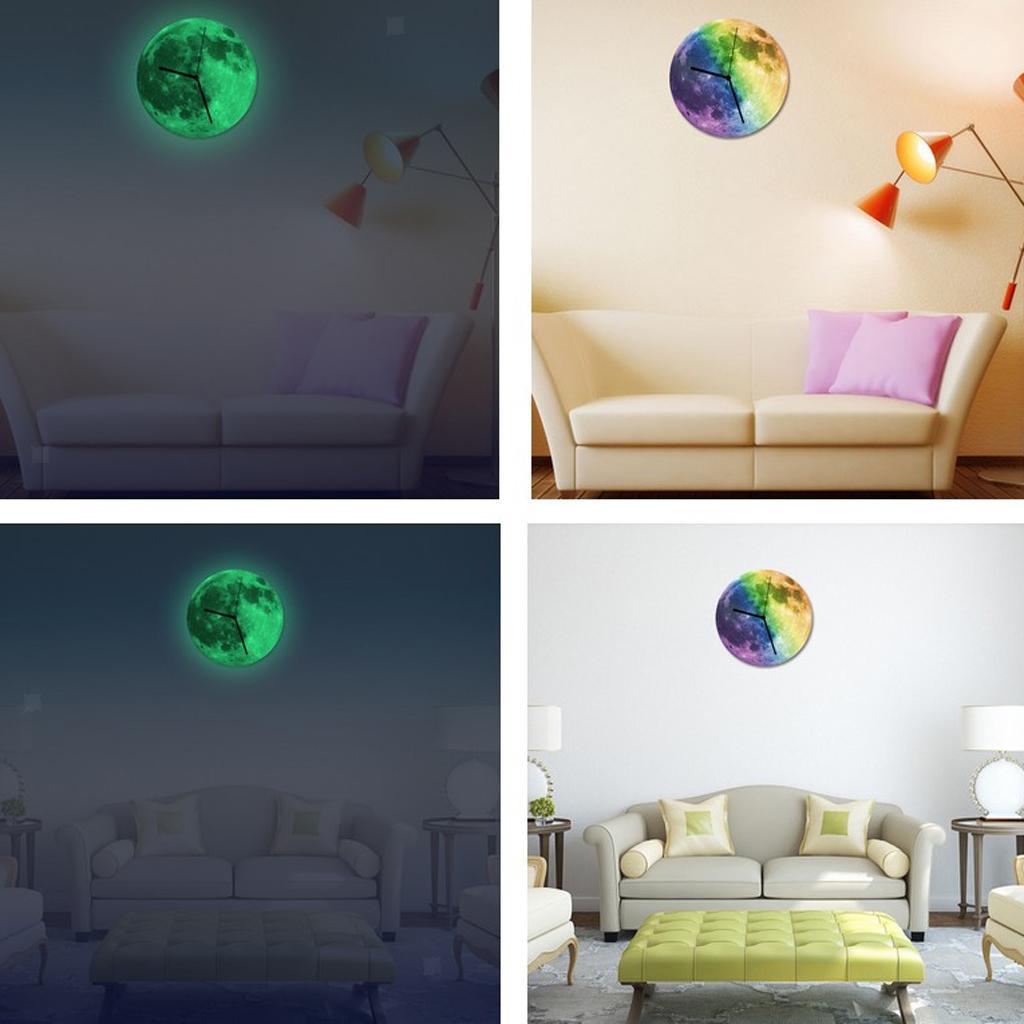 Indoor-Decorative-Wall-Clock-12inch-Luminous-Moon-Battery-Operated-Silent thumbnail 27