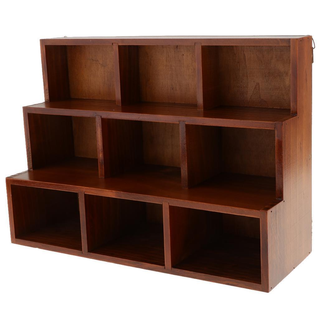 Details about 32 Cube Display Unit Wooden Storage Shelf Desktop Sundries  Organizer Holder