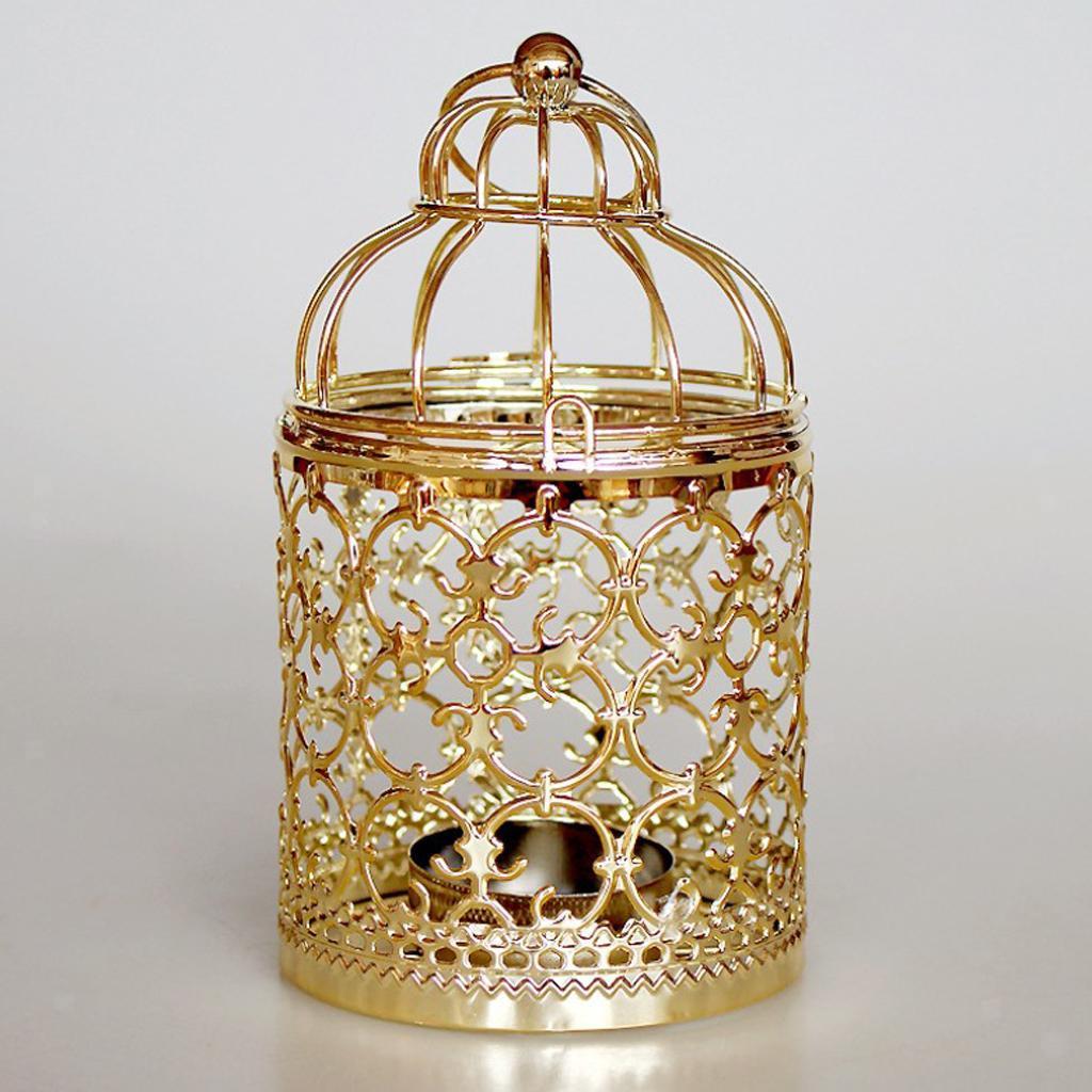 Hollowed-Flower-Metal-Tealight-Candlestick-Birdcage-Candle-Holder thumbnail 3