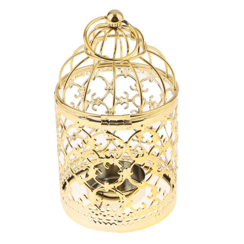 Hollowed-Flower-Metal-Tealight-Candlestick-Birdcage-Candle-Holder thumbnail 4