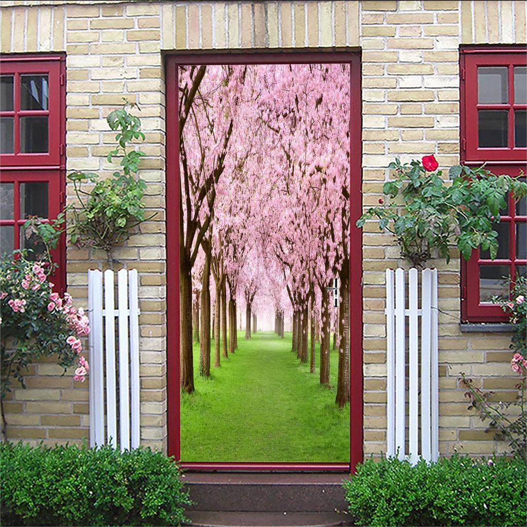thumbnail 3 - 3D Self Adhesive Door Sticker DIY Decor Poster for Home Room Decor