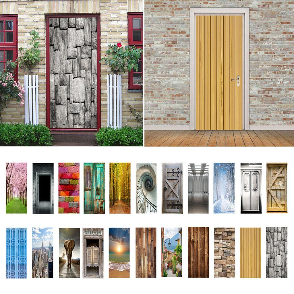 thumbnail 4 - 3D Self Adhesive Door Sticker DIY Decor Poster for Home Room Decor