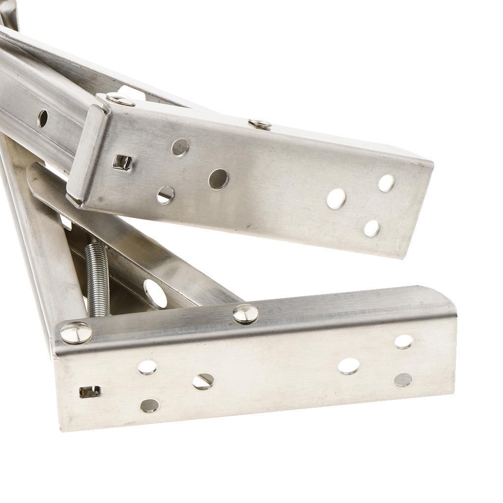 2pcs-staffa-pieghevole-mensola-staffa-pieghevole-mensola-in-acciaio-inox miniatura 5