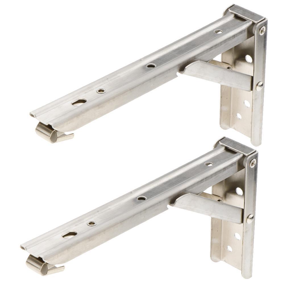 2pcs-staffa-pieghevole-mensola-staffa-pieghevole-mensola-in-acciaio-inox miniatura 4