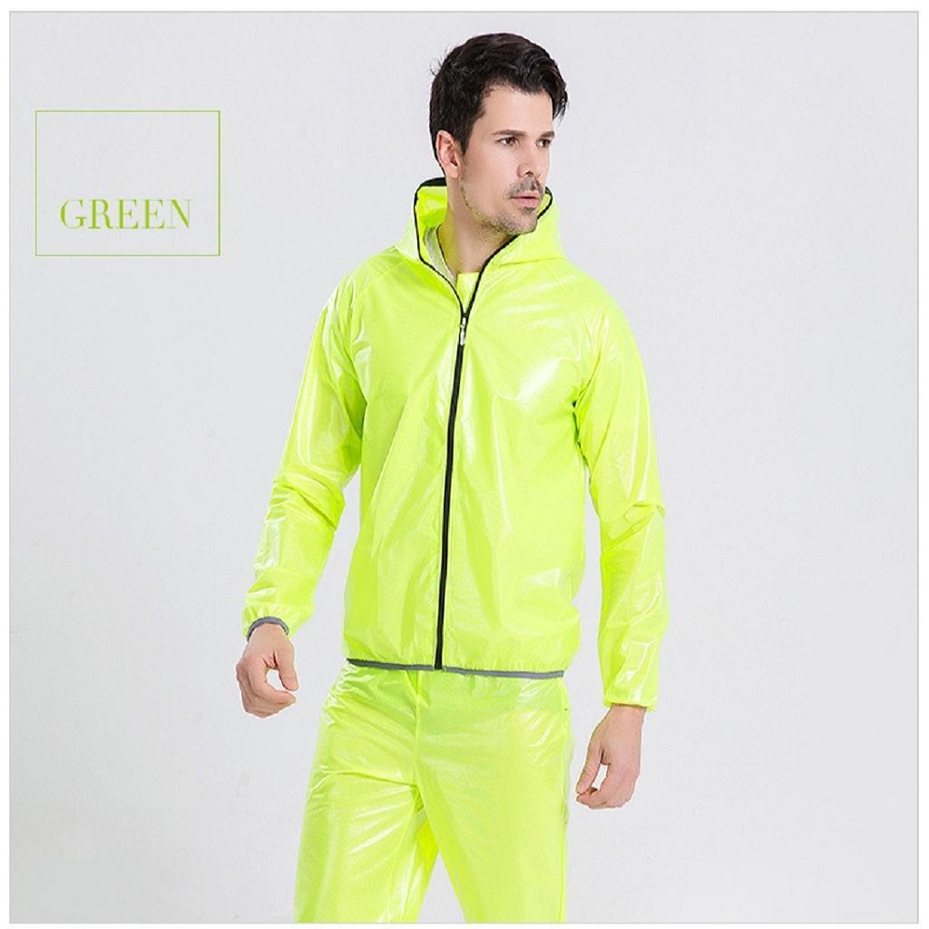 Tuta-da-Pioggia-Giacca-Pantaloni-Paragioggia-Antipioggia-Attrezzo-Sportivo miniatura 17
