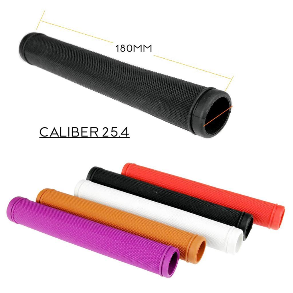 1 Pair Bike Rubber Handlebar Grip 180mm Road Bike Bent Bar Tubing Black Red