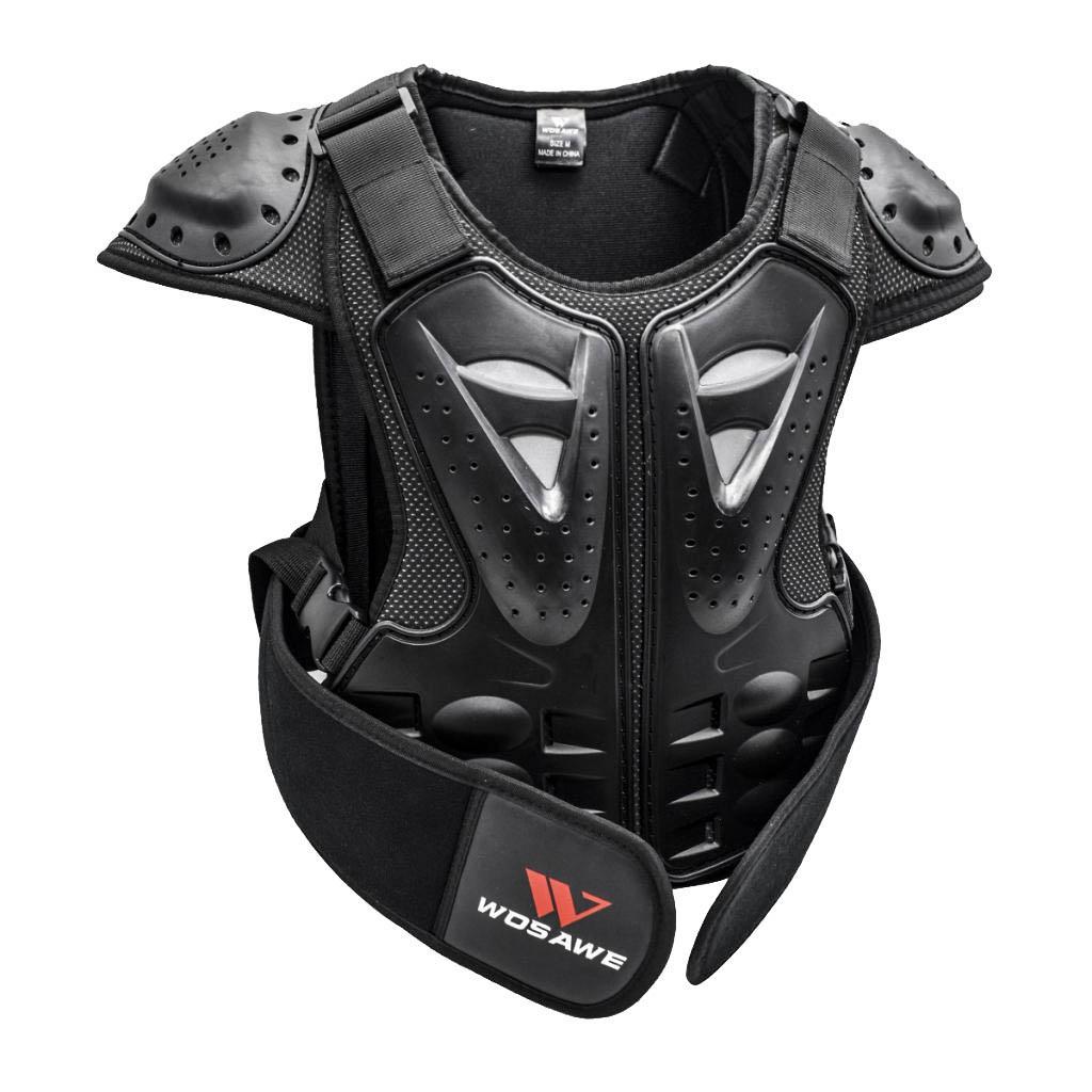 WOSAWE Adultes Gilet de Protection Respirant Armure Protecteur Le Dos et la Poitrine pour Moto Cyclisme Patinage Snowboarding M