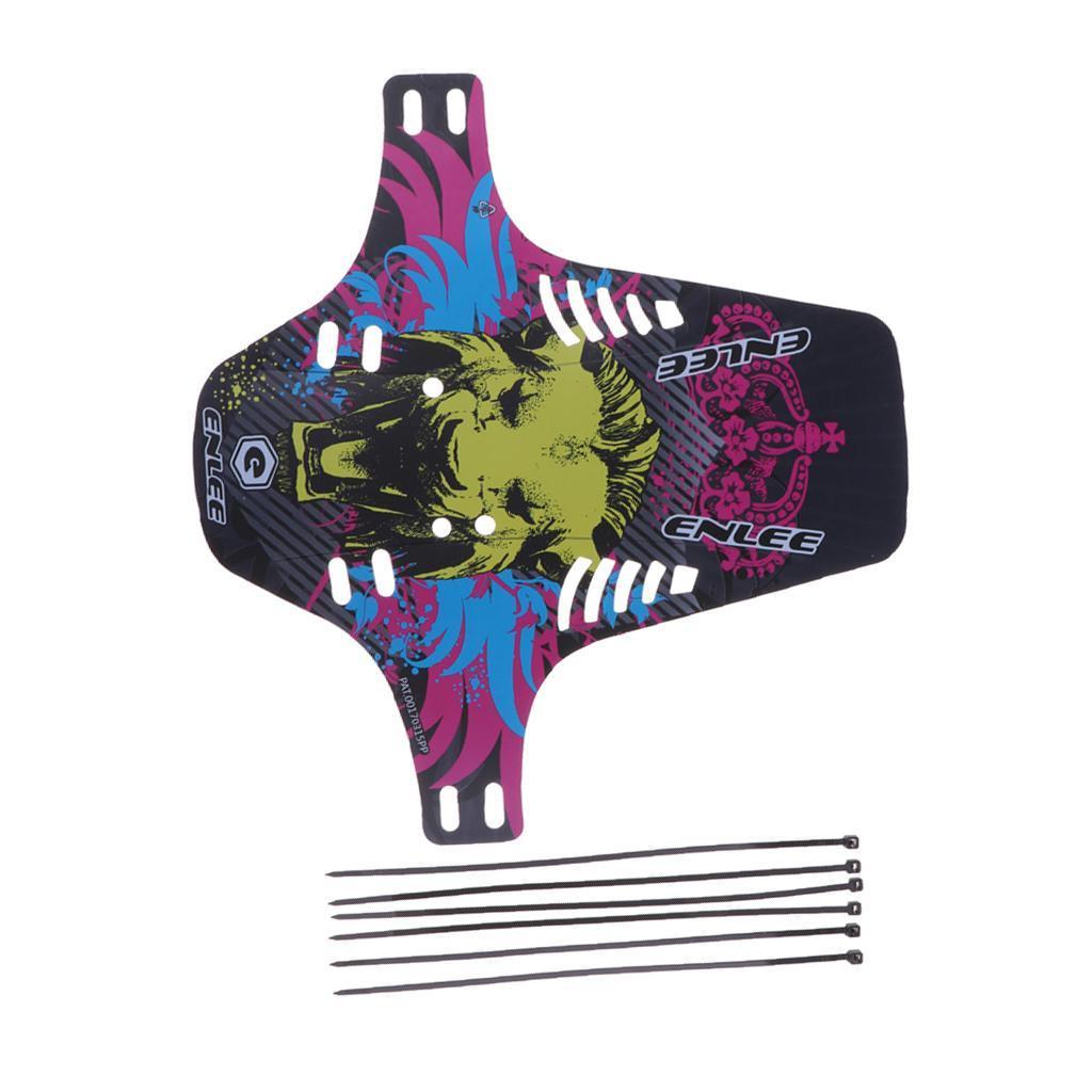 Parafanghi-MTB-per-Mountain-Bike-Parafango-anteriore-con-cinturino miniatura 19