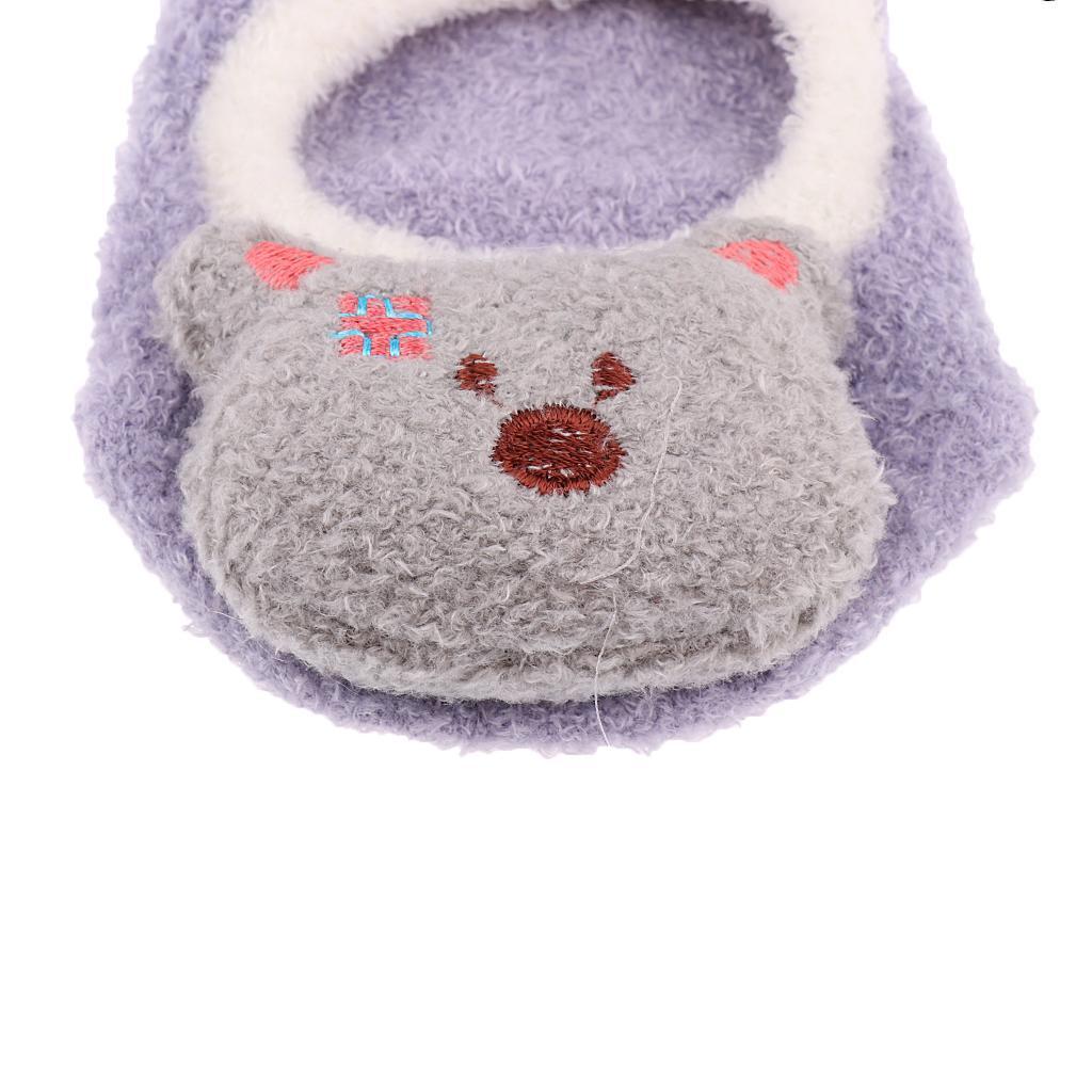 Chaussons-Bebe-Chaussettes-Bateaux-Antiderapant-Cartoon-Chaud-Pompon-Coton-Doux miniature 24