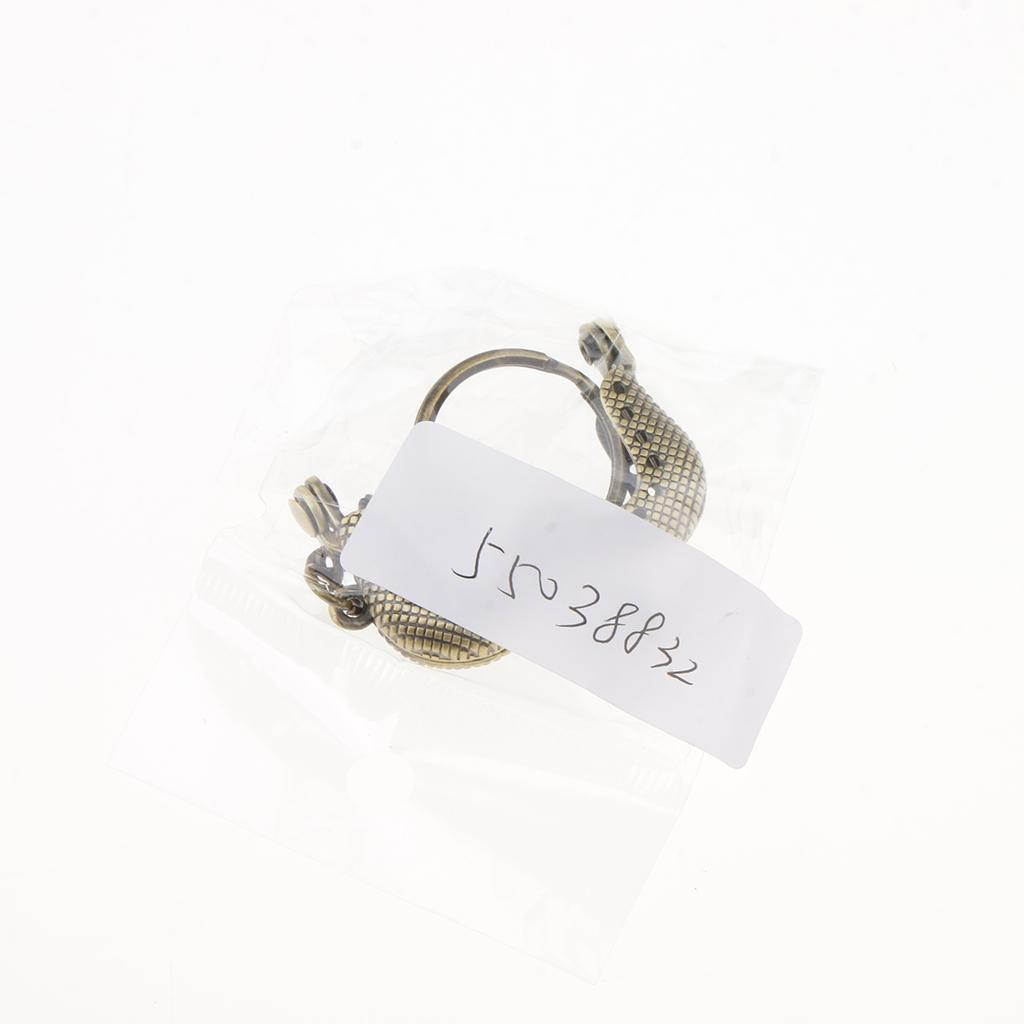 Sew In Coin Bag Purse Metal Frame Handbag Clasp Fastening 4cm M-shaped