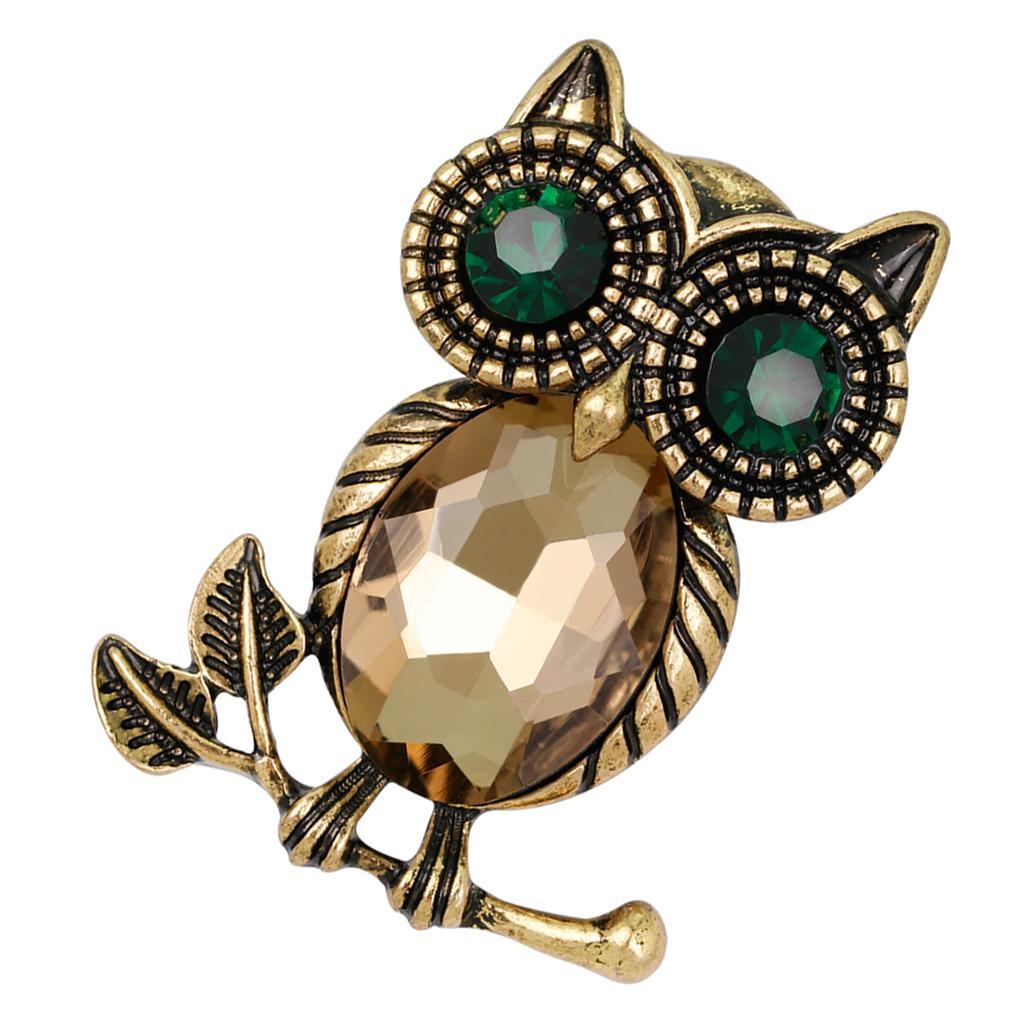 Owl Bird Bee Animal Perle Cristal Broche Pin Femmes Bijoux Mariage Mariée Cadeau
