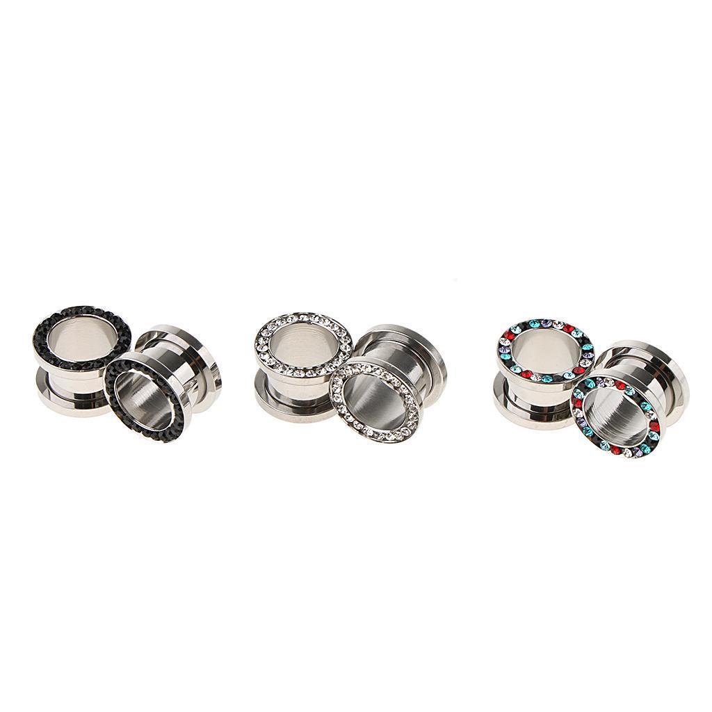 3-coppie-di-tappi-per-orecchie-in-acciaio-inox-Vite-per-tunnel-Tappi-per miniatura 15