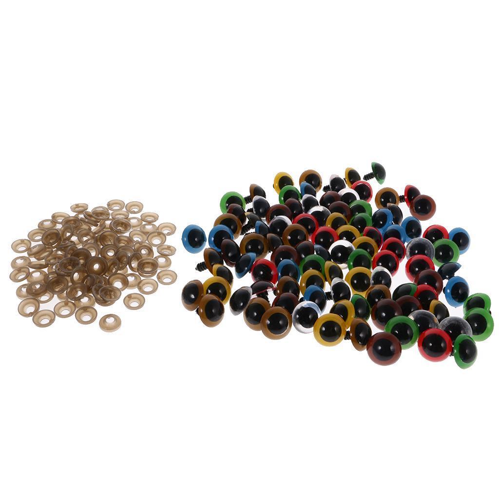 Yeux-de-Securite-Plastique-Plastique-Pour-DIY-Fabrication-Poupee-8-20mm-100Pcs miniature 15