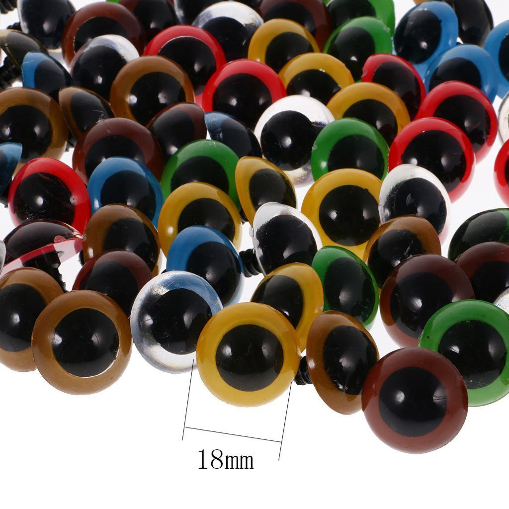 Yeux-de-Securite-Plastique-Plastique-Pour-DIY-Fabrication-Poupee-8-20mm-100Pcs miniature 16