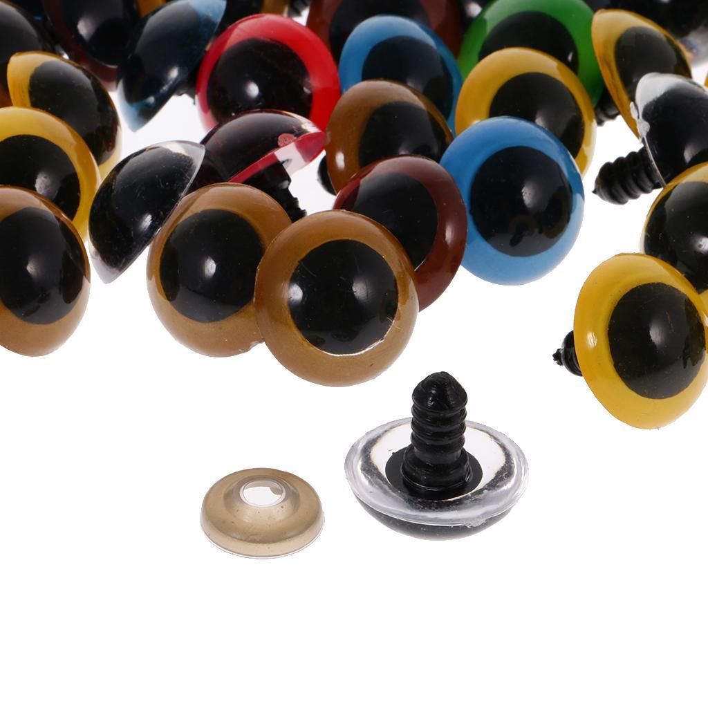 Yeux-de-Securite-Plastique-Plastique-Pour-DIY-Fabrication-Poupee-8-20mm-100Pcs miniature 17