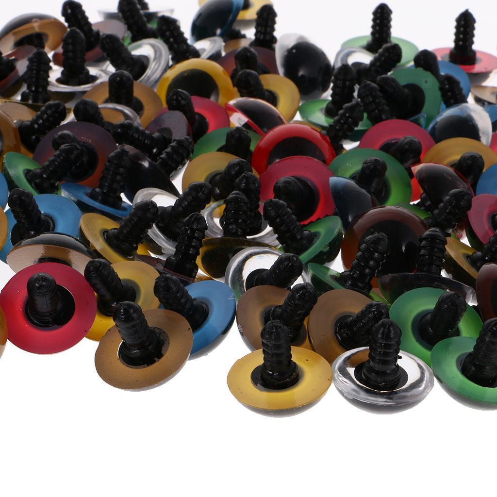 Yeux-de-Securite-Plastique-Plastique-Pour-DIY-Fabrication-Poupee-8-20mm-100Pcs miniature 18