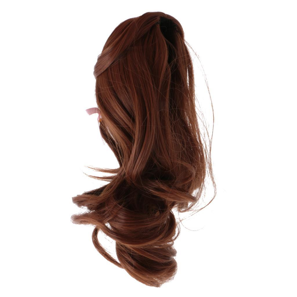 Straight-Wavy-Curly-Hair-Wig-for-18-039-039-Dolls-Clothes-Accessories thumbnail 42